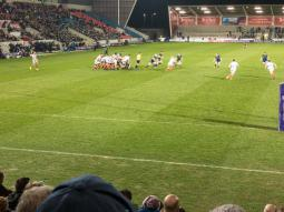 View from the south stand: Sale 20 Connacht 10
