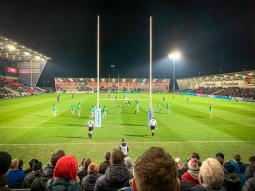 View from the south stand: Sale 28 Harlequins 17