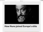 Another Nuno article and 'This day in History'